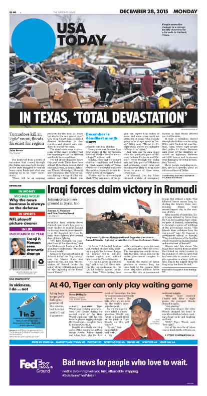12/28/2015 Issue of USA TODAY