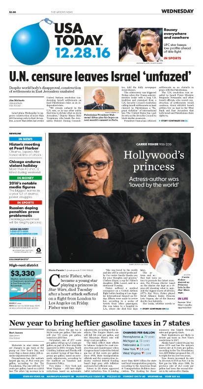 12/28/2016 Issue of USA TODAY