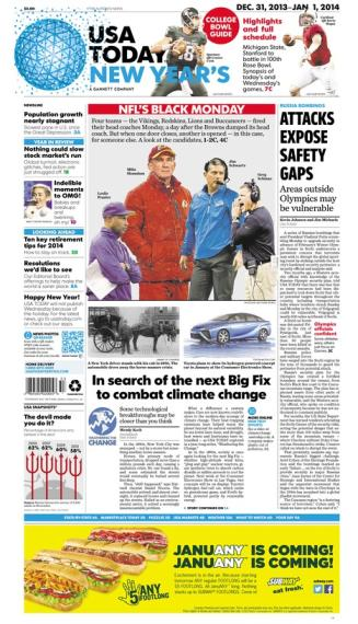12/31/2013 Issue of USA TODAY