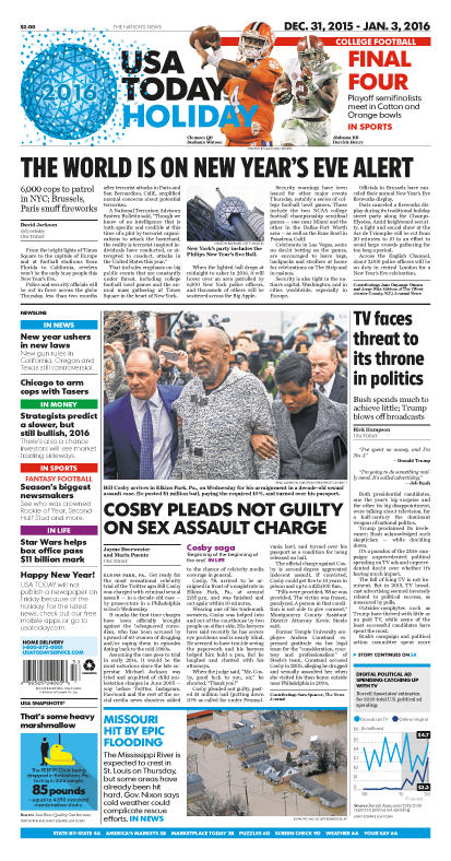12/31/2015 Issue of USA TODAY