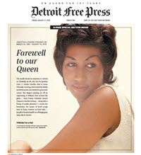 Detroit Free Press - Commemorative Bundle - Aretha Franklin