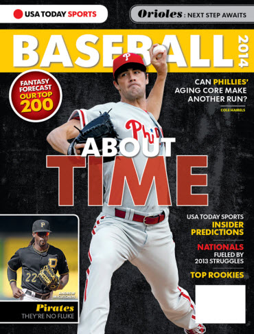 USATODAY Sports Baseball 2014 Preview - Cole Hamels Cover