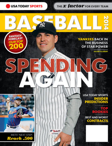 USATODAY Sports Baseball 2014 Preview - Jacoby Ellsbury Cover