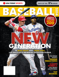 USATODAY Sports Baseball 2014 Preview - Mike Trout - Yasiel Puig Cover