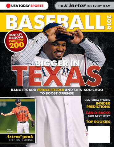 USATODAY Sports Baseball 2014 Preview - Prince Fielder Cover
