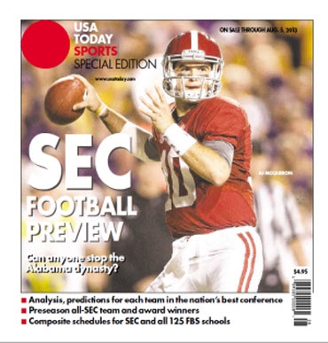 College Football Preview Special Edition - SEC - Alabama Cover