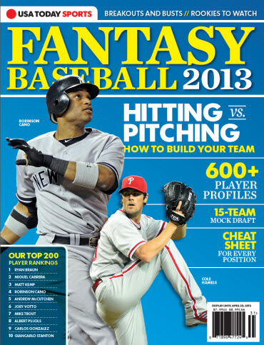 USAToday Fantasy Baseball 2013 - Robinson Cano Cover