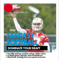 USA TODAY 2013 Fantasy Football Guide - 49ers' Colin Kaepernick Cover