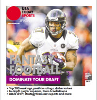 USA TODAY 2013 Fantasy Football Guide - Ravens' Ray Rice Cover