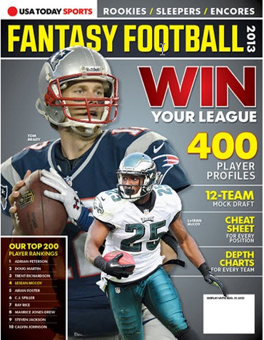 Fantasy Football 2013 - Tom Brady/LeSean McCoy Cover