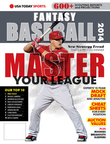 USA TODAY Sports Fantasy Baseball 2014 - Mike Trout Cover
