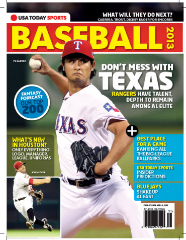 USAToday Sports Baseball 2013 Preview - Rangers/Astros Cover