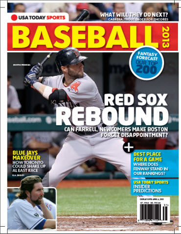 USAToday Sports Baseball 2013 Preview - Red Sox Cover