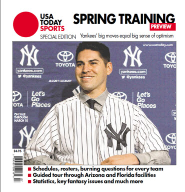 USAToday Sports 2014 Spring Training Special Edition - Yankees Cover