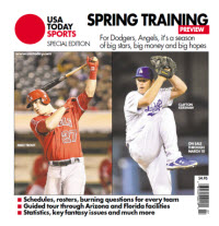 USAToday Sports 2014 Spring Training Special Edition - Dodgers and Angels Cover