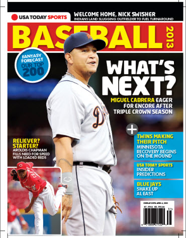 USAToday Sports Baseball 2013 Preview - Tigers/Reds Cover