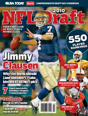 2010 NFL Draft (Jimmy Clausen cover)