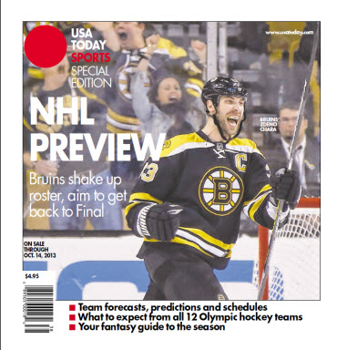 NHL Preview - 2013 Special Edition - Bruins Cover