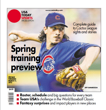 USAToday Sports Spring Training 2013 - Jeff Samardzija Cover