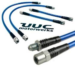 stainless steel brake line kit - 4 lines - all E46 3-series and M3 using UUC/ALCON big brake kit.