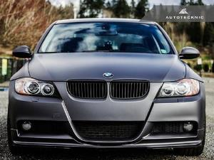 AutoTecknic Replacement Stealth Black Front Grilles - E90 Sedan / E91 Wagon | 3 Series LARGE