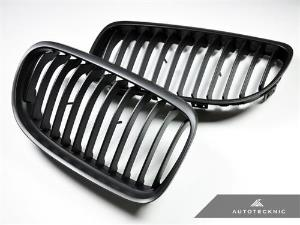AutoTecknic Replacement Stealth Black Front Grilles - E90 Sedan / E91 Wagon | 3 Series LCI_LARGE