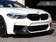 AutoTecknic Replacement Glazing Black Front Grilles Surrounds - F90 M5