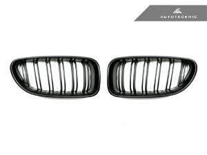 AUTOTECKNIC REPLACEMENT DUAL-SLATS STEALTH BLACK FRONT GRILLES - F06 GRAN COUPE / F12 COUPE / F13 CA_LARGE