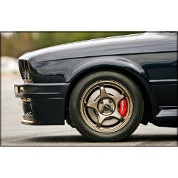D-Force Lightweight Alloy Race Wheel - BMW E30 4x100 fitment, 15x7 et25 offset LARGE