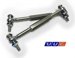 PAIR (2) front swaybar links (center adjust) for E46 3-series LARGE