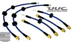 stainless steel brake line kit - 6 lines - all E90/E92/E93 3-series and M3 (2007-2011+)