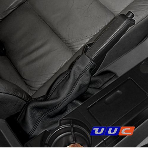 Parking brake boot - black leather with black stitching for E36 (all models)