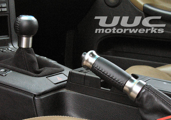 RK6A-L STAINLESS STEEL height-adjustable shift knob with leather covering_THUMBNAIL