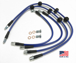stainless steel brake line kit - 4 lines - 2010+ F10 M5