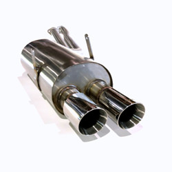 System U exhaust for '92-'99 E36 3-series - ROUND tips / GENERATION 3 LARGE