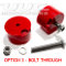 Transmission Mount Bushing kit - RED BOLT-THROUGH  (priced per pair) SWATCH