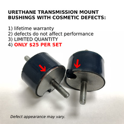 COSMETICALLY DEFECTIVE - Transmission Mount Bushing kit -BLUE ISOLATED  (priced per pair)