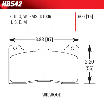 HAWK HB542F.490 / HP-S STREET brake pads for UUC E30 BBK 4-piston calipers_THUMBNAIL