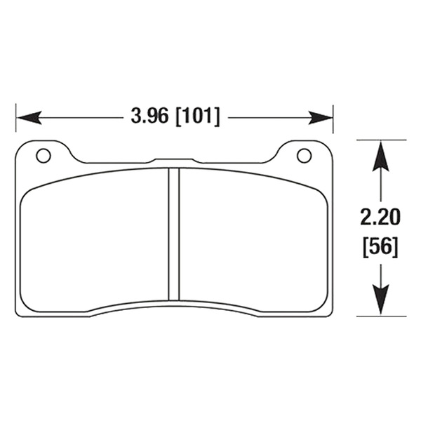 HAWK HB542W.490 / DTC-30 AUTO-X brake pads for UUC E30 BBK 4-piston calipers MAIN