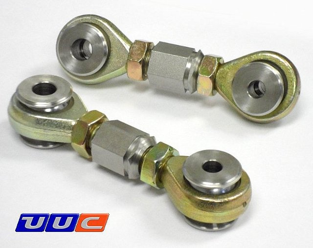 PAIR (2) rear swaybar links (center adjust) for adjustable swaybars for E36 3-series THUMBNAIL