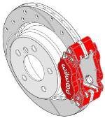 Super Performance Brake Kit - Wilwood Dynalite, 312mm rotor, REAR ADD-ON '94-'99 E36 M3, '96-'01 MZ3