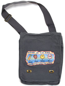 Eat Kiss Field Bag by Animal RightStuff