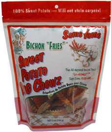 Sam's Yams Bichon Fries Dog Chew Treats