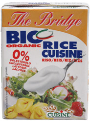 Organic Rice Cream Alternative by The Bridge