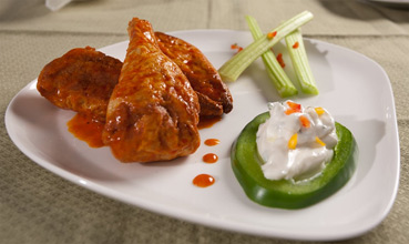 Hot & Spicy Soy Chicken Buffalo Wings by Veggie Brothers