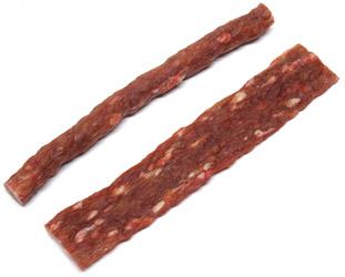 """Vegan """"Beef Stick"""" and """"Jerky Strip"""" Dog Chews by Animal Farm"""