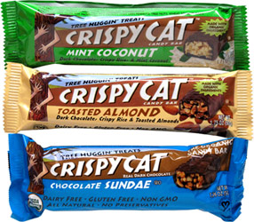 Crispy Cat Candy Bars by Tree Huggin' Treats