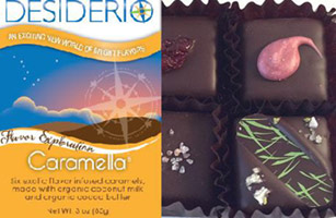 Caramella Vegan Salted Caramels by Desiderio Chocolates