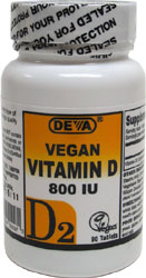 DEVA Vegan Vitamin D2 Tablets - 800iu