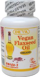 DEVA Organic Flax Seed Oil Capsules